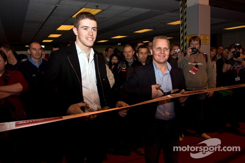Джонни Херберт и Пол ди Реста. Международная автоспортивная выставка, Бирмингем, воскресенье.