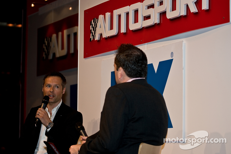 Энди Приоль. Международная автоспортивная выставка, Бирмингем, воскресенье.
