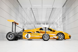 The 1969 McLaren M7C and the McLaren MP4-12C Spider