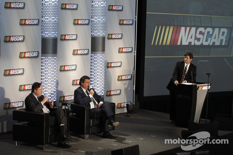 Brian France Chairman en CEO NASCAR en Michael Helton President NASCAR