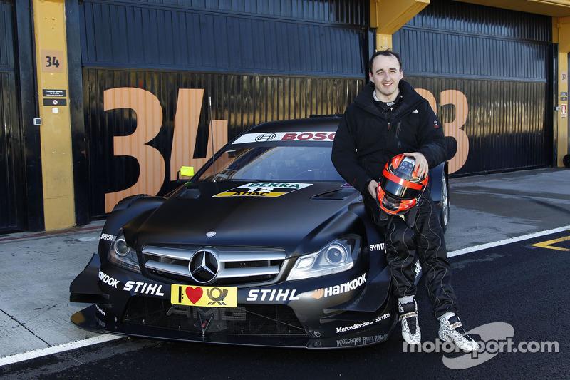 Роберт Кубіца на тестах Mercedes DTM