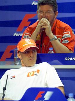 Press conference: Michael Schumacher, Ross Brawn