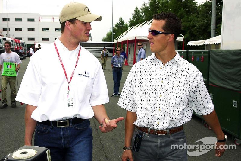 Ральф Шумахер и Михаэль Шумахер. ГП Франции, Четверг.