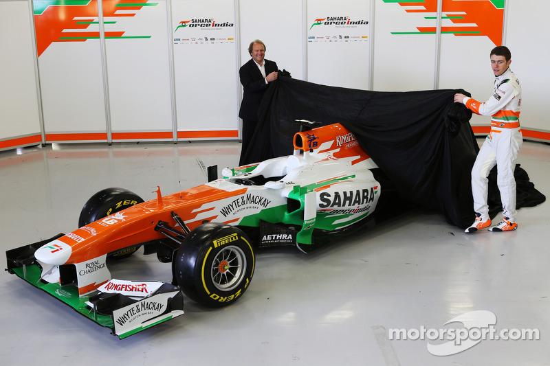 Bob Fernley en Paul di Resta, Sahara Force India F1 Team unveil the VJM06