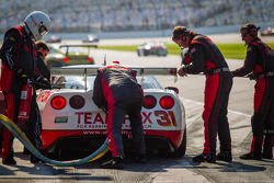 Pit stop for #31 Marsh Racing Corvette: Eric Curran, Boris Said, Lawson Aschenbach, Brandon Davis