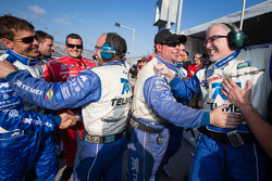 Scott Pruett and Chip Ganassi Racing with Felix Sabates team members celebrate win