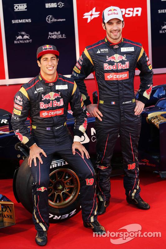 Jean-Eric Vergne, Scuderia Toro Rosso e o companheiro de equipe Daniel Ricciardo, Scuderia Toro Ross