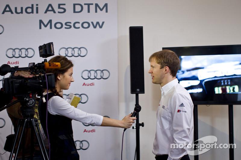 Маттиас Экстрем. Audi представила машину DTM в Москве, 2013, презентация.