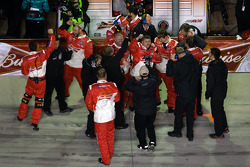Richard Childress Racing team members celebrate win