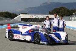Alexander Wurz, Kazuki Nakajima, Nicolas Lapierre with the Toyota TS030 Hybrid