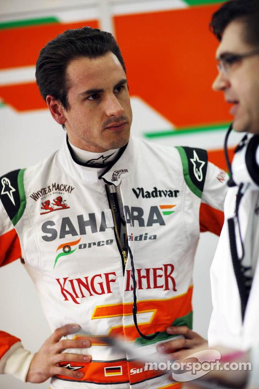 Adrian Sutil, Sahara Force India F1, com Bradley Joyce, engenheiro