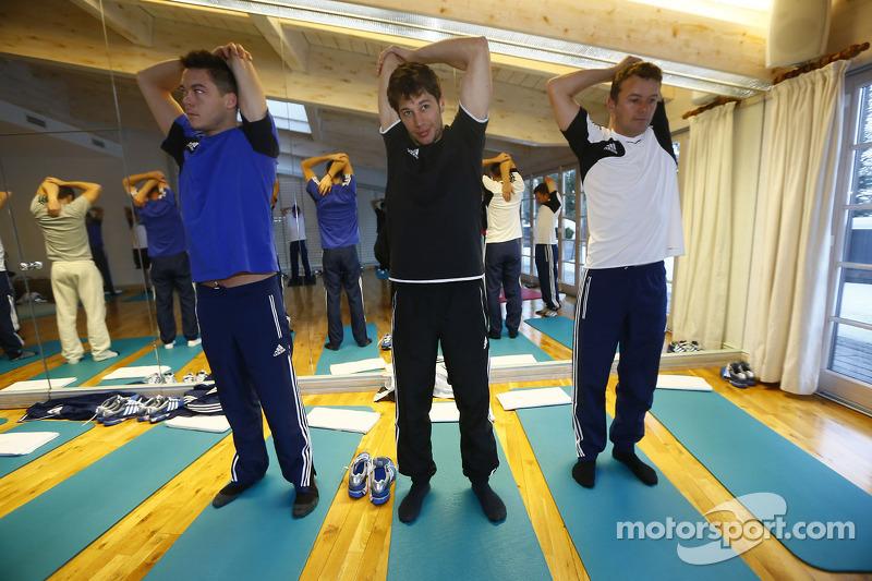 Andre Lotterer, Loic Duval en Marcel Fässler