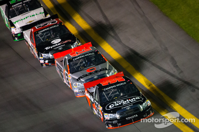 Johnny Sauter, Todd Bodine and Kyle Busch