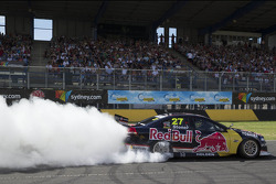 Casey Stoner does donuts in the V8 Supercar