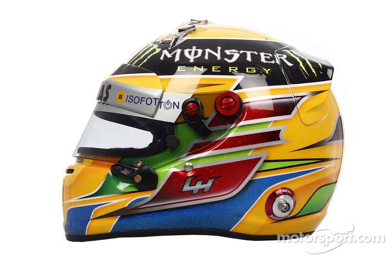 Льюис Хэмилтон. ГП Австралии, Шлемы пилотов.