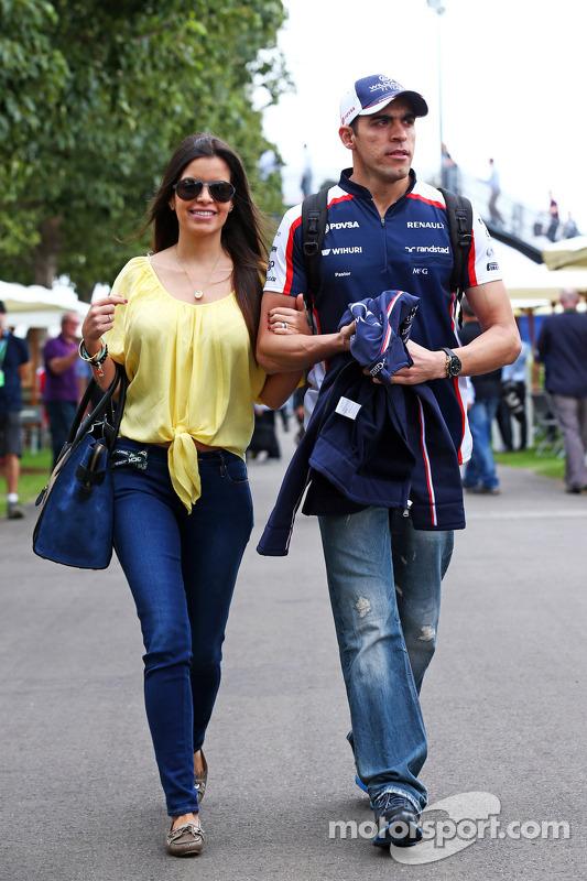 Pastor Maldonado, Williams com namorada Gabriella Tarkany