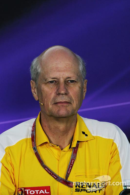 Jean-Michel Jalinier, Renault President na coletiva de imprensa da FIA