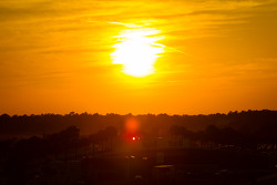 Sunset on Sebring paddock
