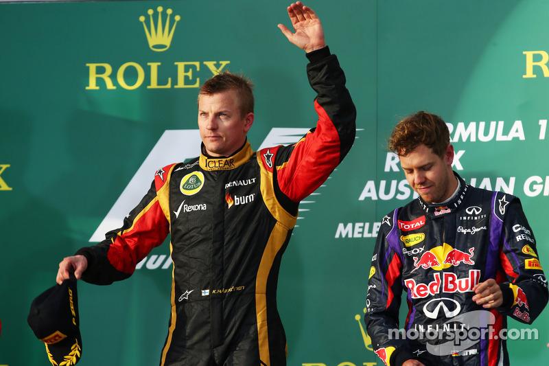Kimi Raikkonen (Lotus), ganador GP Australia 2013