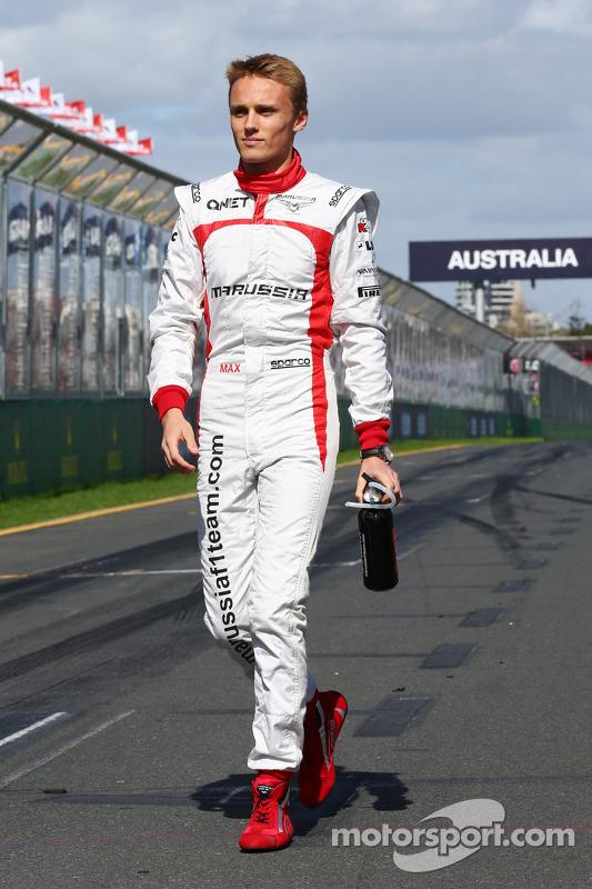 Max Chilton, Marussia F1 Team no desfile de pilotos