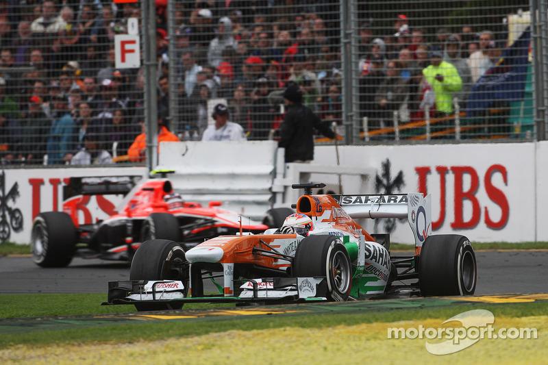 Пол ди Реста. ГП Австралии, Воскресная гонка.