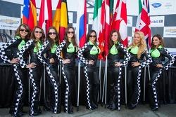Lovely flag girls