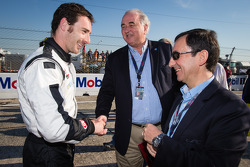 Simon Pagenaud with WEC consultant Frédéric Henry-Biabaud and ACO President Pierre Fillon