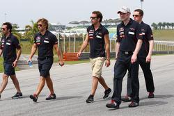 Jean-Eric Vergne, Scuderia Toro Rosso walks the circuit