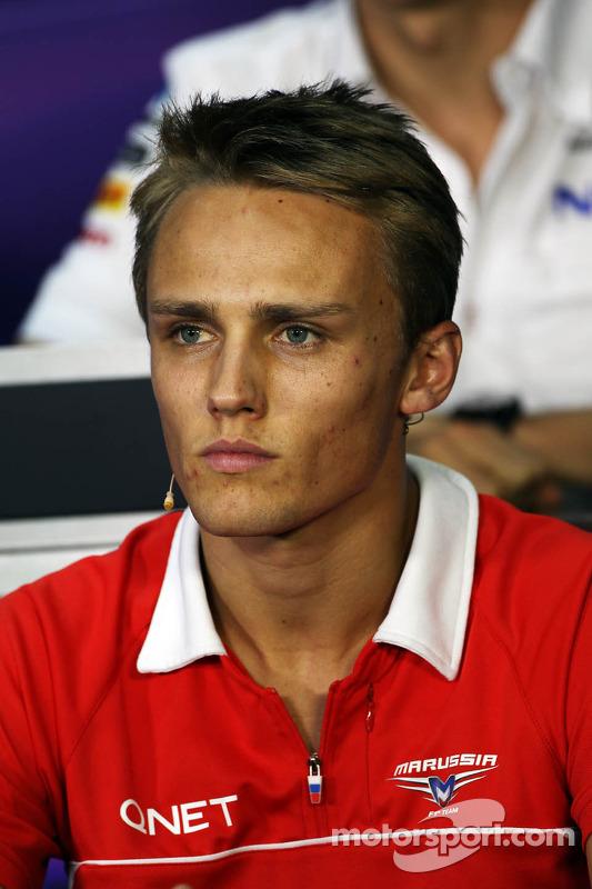Max Chilton, Marussia F1 Team na coletiva da FIA