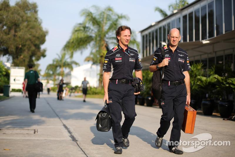 Christian Horner, Teambaas Red Bull Racing met Adrian Newey, Red Bull Racing Chief Technical Officer