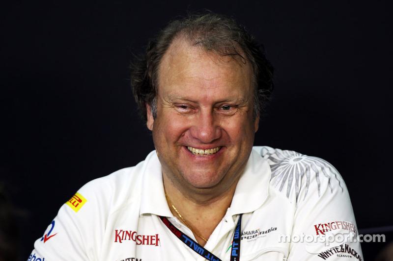 Bob Fernley, Adjunct-teambaas Sahara Force India F1 Team bij de FIA-persconferentie