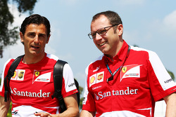 Pedro De La Rosa, Ferrari Development Driver with Stefano Domenicali, Ferrari General Director