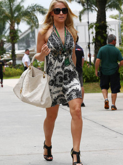The girlfriend of Adrian Sutil, Sahara Force India F1