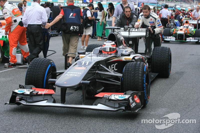 Нико Хюлькенберг. ГП Малайзии, Воскресенье, перед гонкой.