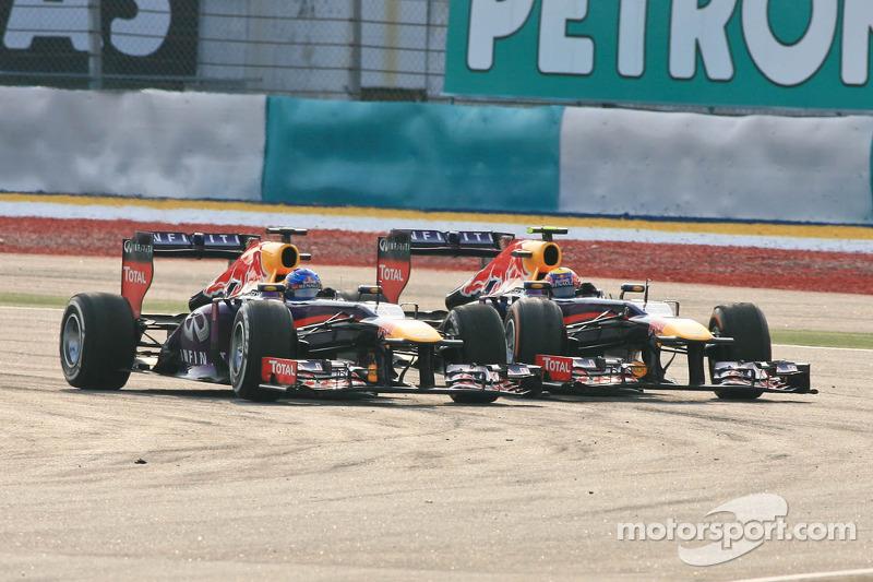 Mark Webber, Red Bull Racing RB9 y Sebastian Vettel, Red Bull Racing RB9