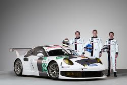 Richard Lietz, Marc Lieb and Romain Dumas with the Porsche 911 RSR