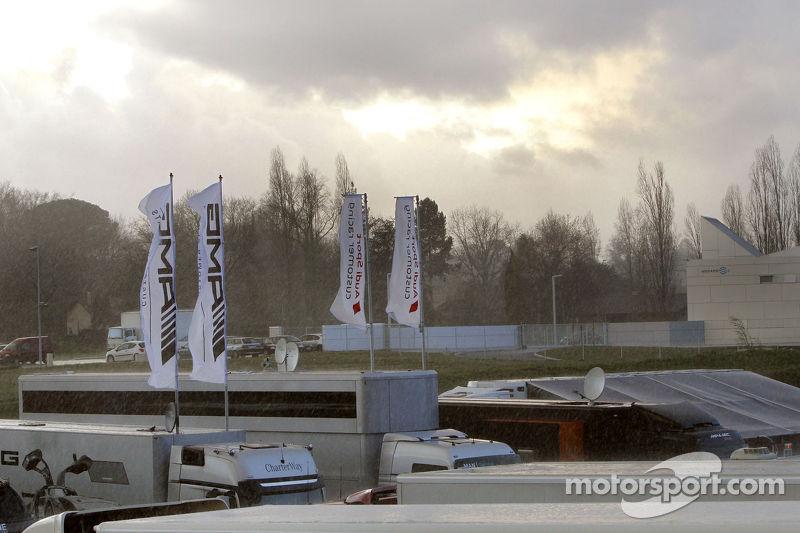 Rain at the Nogaro circuit