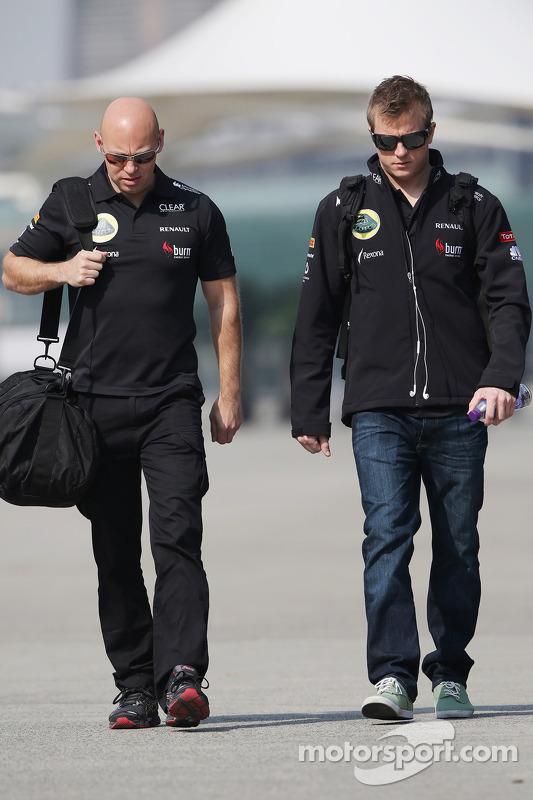 Kimi Raikkonen, Lotus F1 Team com Mark Arnall, Personal Trainer