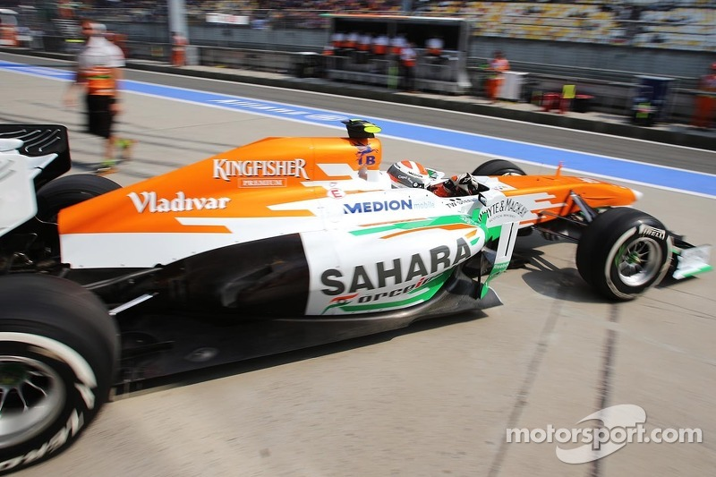 Adrian Sutil, Sahara Force India VJM06 verlaat de pits