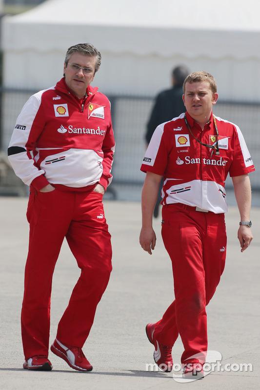 Pat Fry, Sub-diretor técnico da Ferrari e Chefe do Engenheiro de Corridaing com Lawrence Hodge, Fera