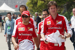 Felipe Massa, Ferrari with Rob Smedley, Ferrari Race Engineer