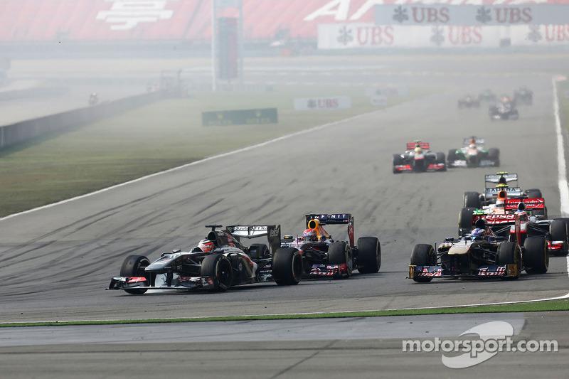 Нико Хюлькенберг. ГП Китая, Воскресная гонка.