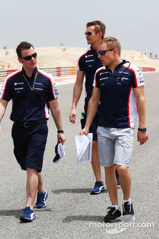 Valtteri Bottas, Williams FW35 caminha no circuito