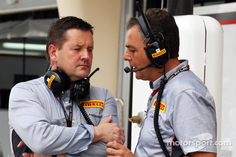 (L naar R): Paul Hembery, Pirelli Motorsport Director met Mario Isola, Pirelli Racing Manager