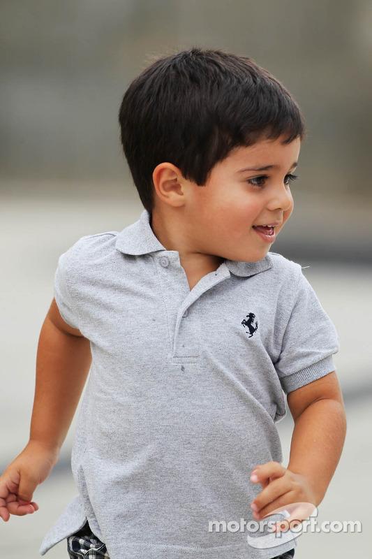 Felipinho, the son of Felipe Massa, Ferrari