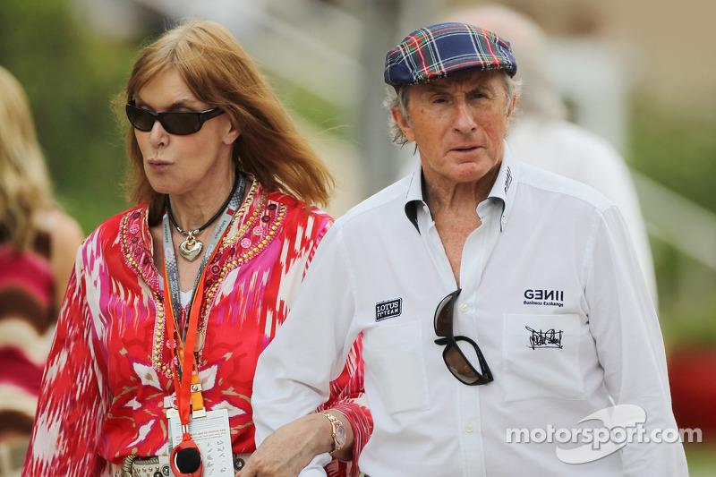 Jackie Stewart, with wife Helen Stewart (GBR)