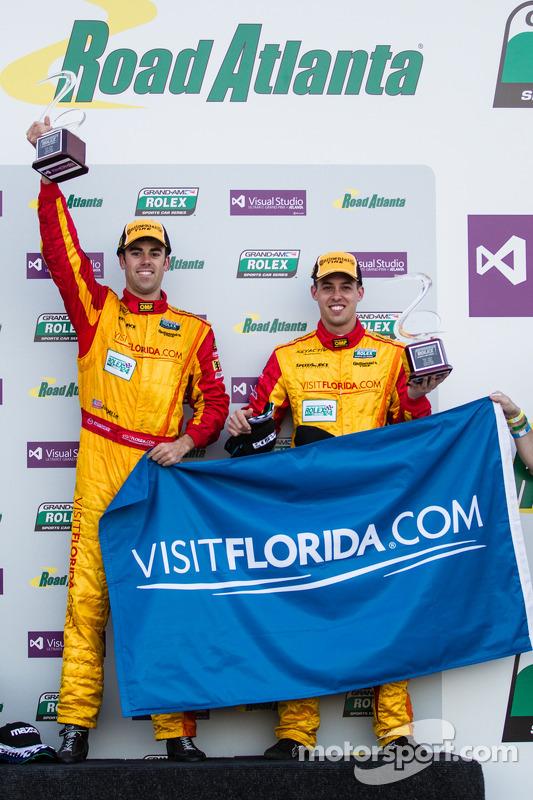GTX podio: Joel Miller and Andrew Carbonell