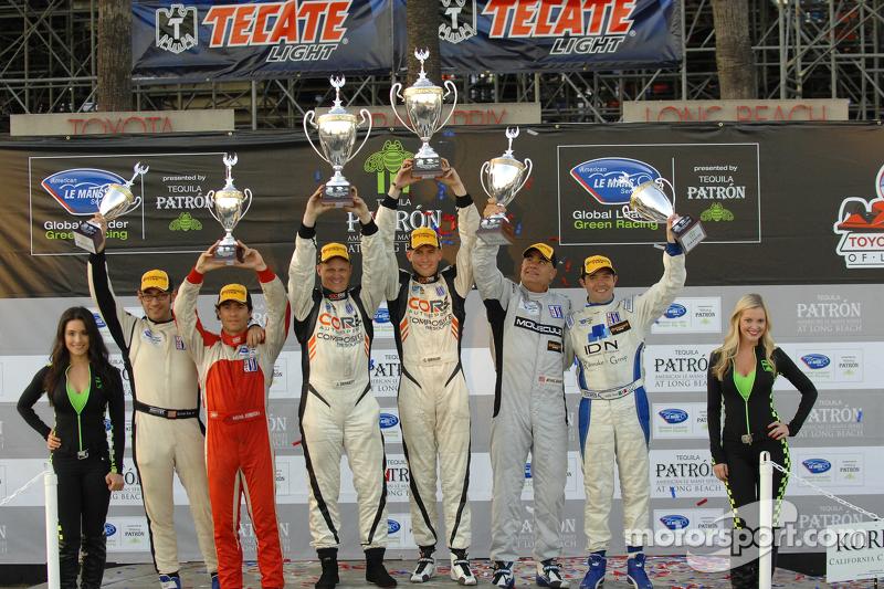 PC podium: winners Jonathan Bennett, Colin Braun, second place Mike Guasch, Luis Diaz, third place Duncan Ende, Bruno Junqueira