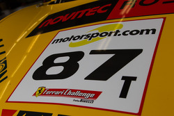 #87 Ferrari 458 hood