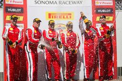 Race #2 winners celebrate